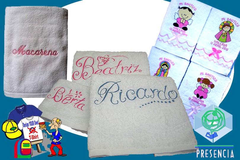 Textiles: Toallas Bordadas